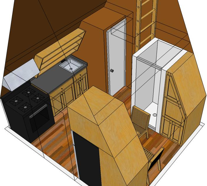 Tiny eco house plans off the grid sustainable tiny houses for A frame house kits canada
